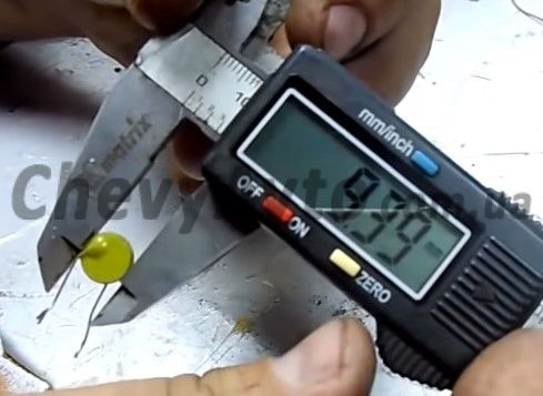 Диаметр резистора